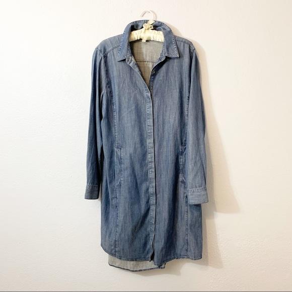 Eileen Fisher Dresses & Skirts - Eileen Fisher Chambray Button Front Shirt Dress